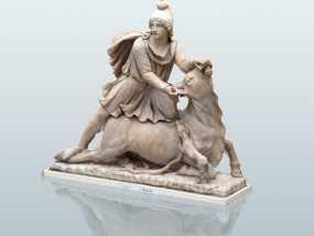 罗马祭祀 雕像打印