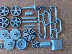 3D打印发条玩具车