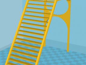 阁楼式仓鼠笼小梯子