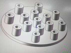插头底盘,一个底盘加上一根根圆柱