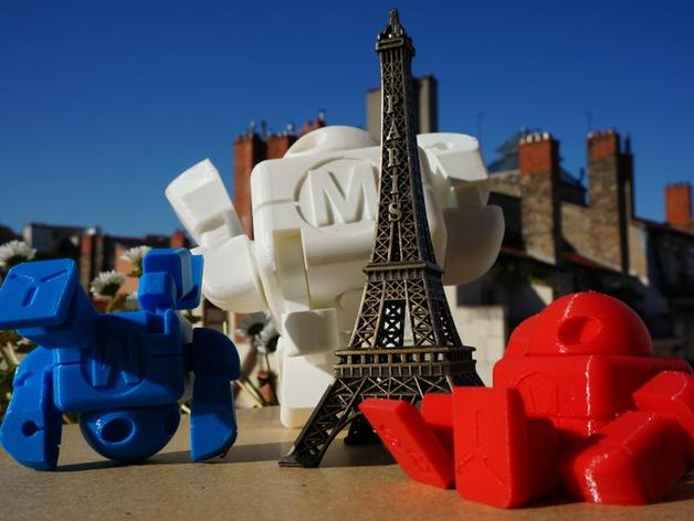 M型机器人 3D打印模型渲染图