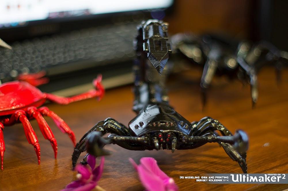 红色蝎子 3D打印图片