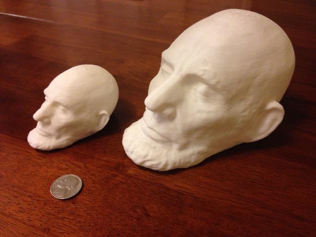 美国总统林肯白色雕像 3D打印图片