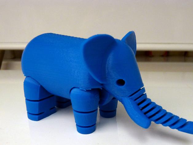 大象 3D打印图片