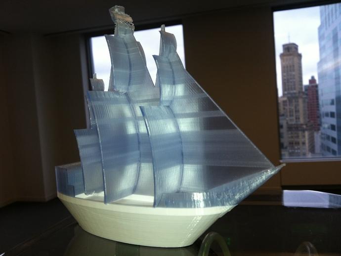 海盗船 3D打印图片
