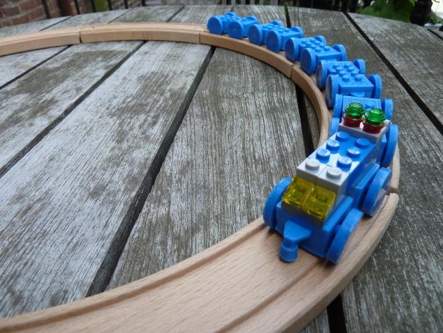 乐高玩具火车 车厢导轨全套 3D打印模型渲染图