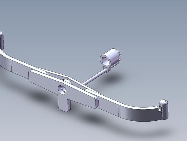 橡胶带的弓和箭