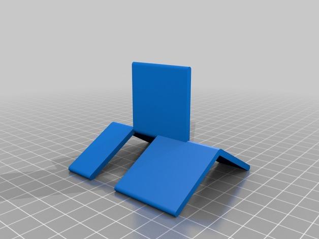 可折叠简易模型 3D打印模型渲染图