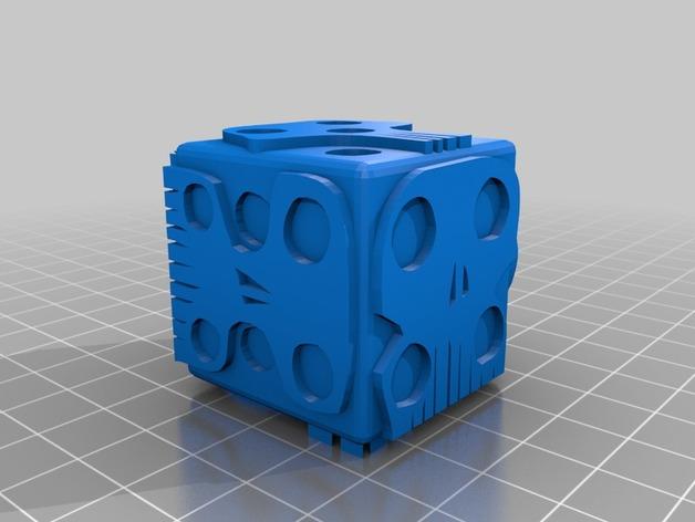 带有乌基布基头像的骰子 3D打印模型渲染图
