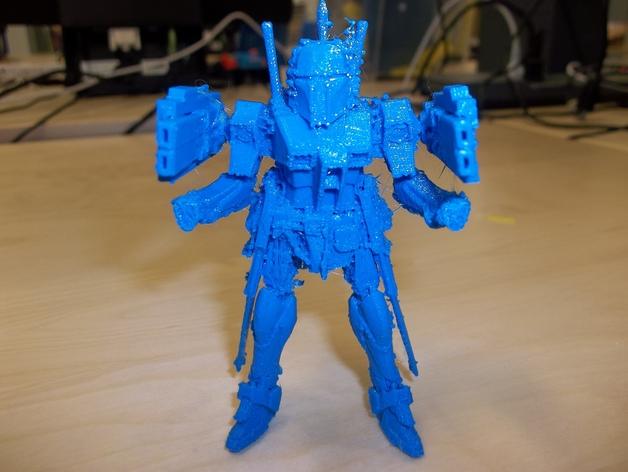 游戏《jetbot》中机器人模型 3D打印模型渲染图