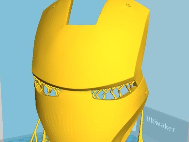 电影《钢铁侠3》面具模型 3D打印模型渲染图