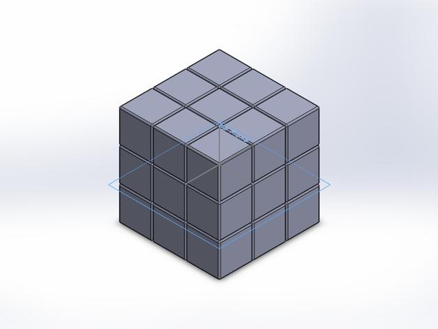 魔方模型 3D打印模型渲染图