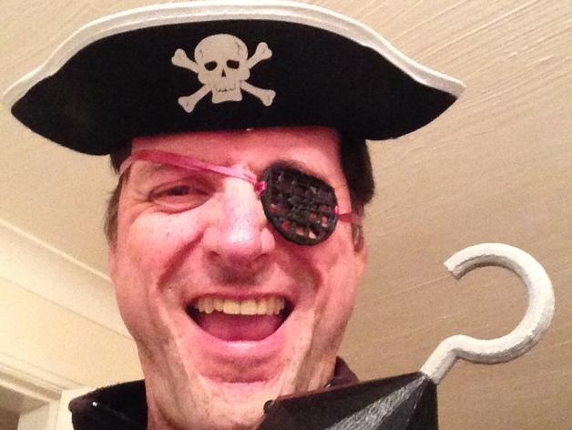 海盗眼罩模型 3D打印模型渲染图