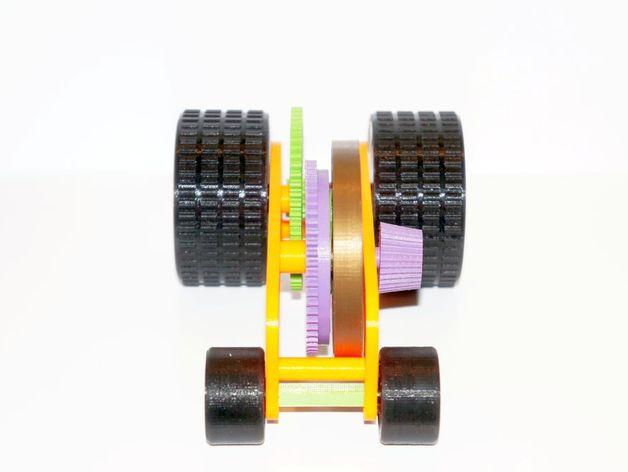 汽车弹簧减震器 3D打印模型渲染图