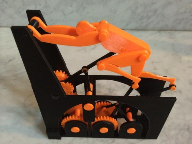 迷你跑步机装置 3D打印模型渲染图