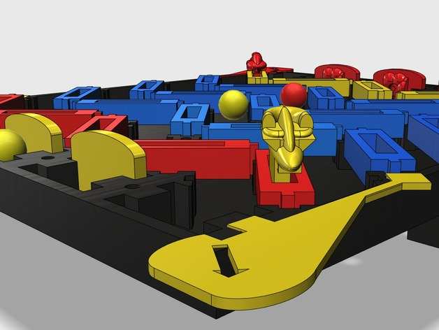 3D打印的迷你棋盘游戏 3D打印模型渲染图