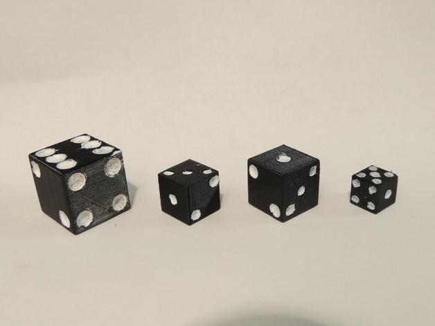 迷你骰子模型 3D打印模型渲染图