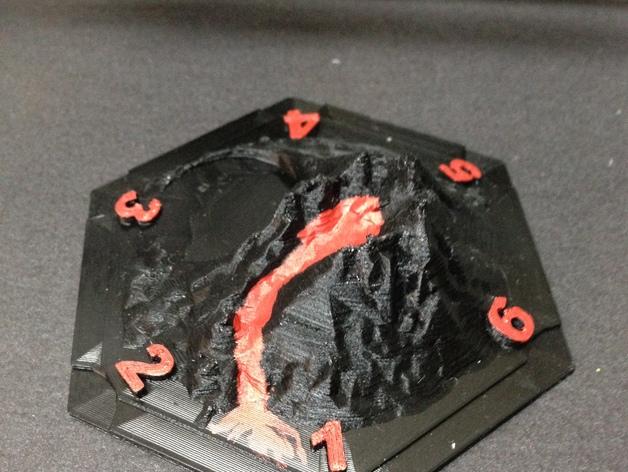 游戏《卡坦岛》中火山模型 3D打印模型渲染图