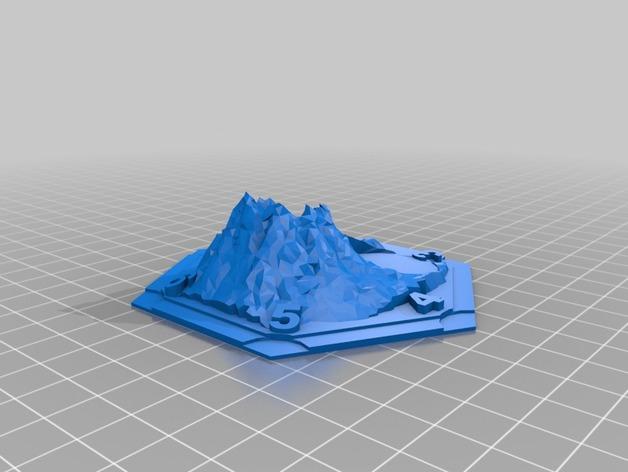 游戏《卡坦岛》中火山模型
