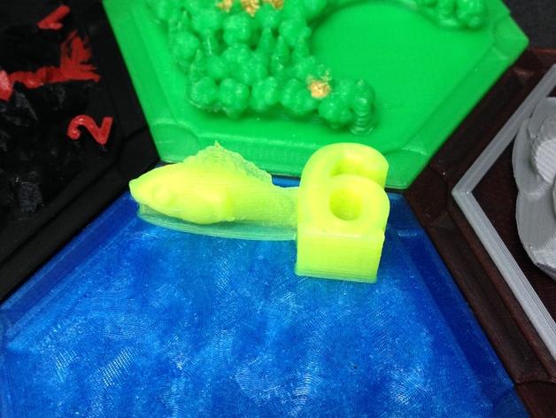 游戏《卡坦岛》中Chevron鱼模型 3D打印模型渲染图