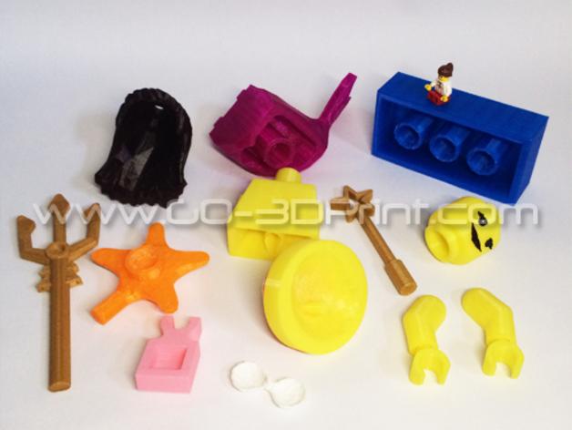 乐高玩具中迷你美人鱼模型