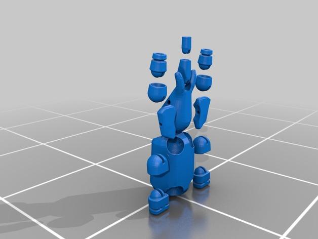 球形大象模型 3D打印模型渲染图