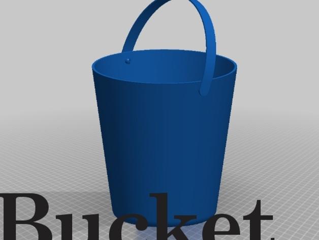 迷你水桶模型 3D打印模型渲染图