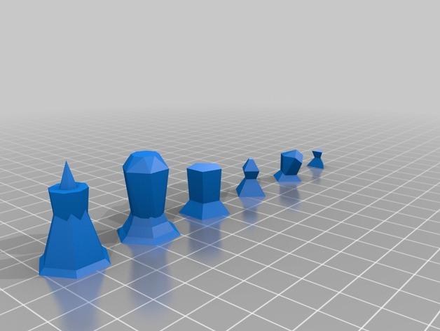 抽象化的象棋棋子