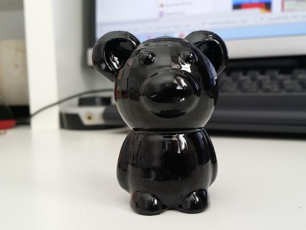 小熊玩偶 3D打印模型渲染图