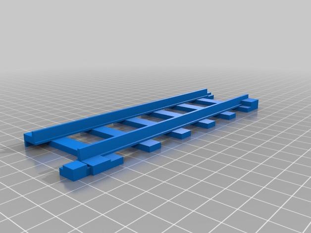 迷你火车轨道模型 3D打印模型渲染图
