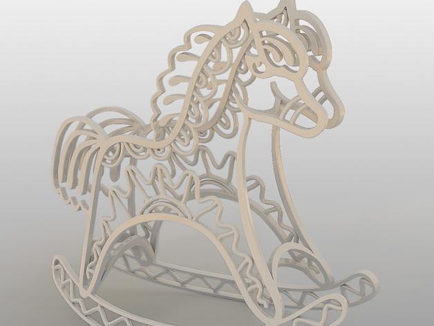 2014年马年吉祥 3D打印模型渲染图