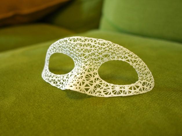 超好看的面具模型 3D打印模型渲染图