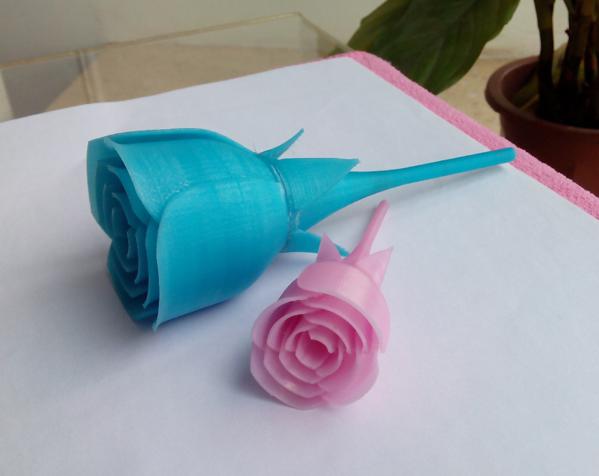 玫瑰花 3D打印图片