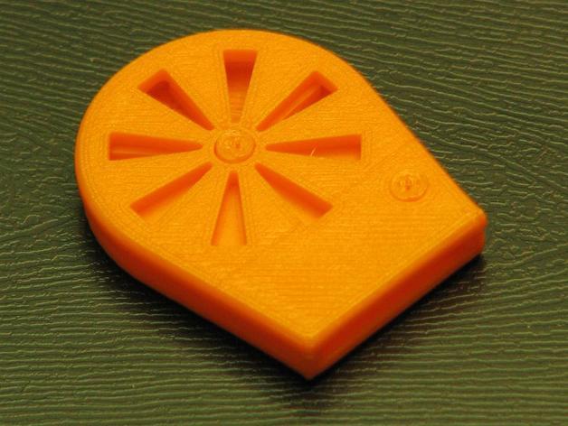 橙色口哨 3D打印模型渲染图