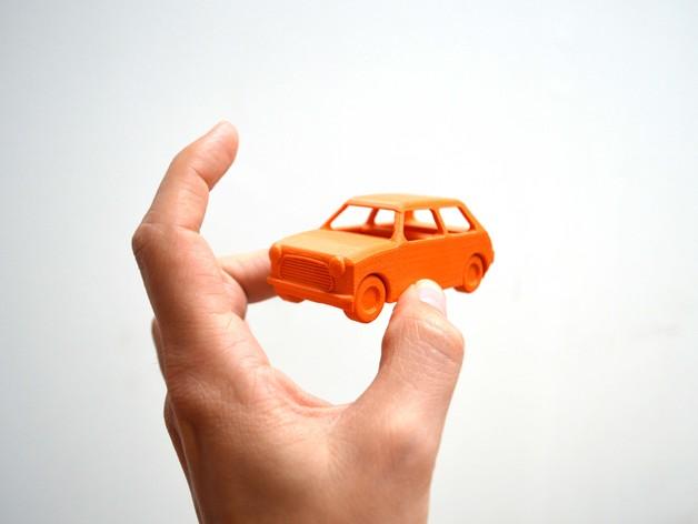 迷你小汽车 3D打印模型渲染图
