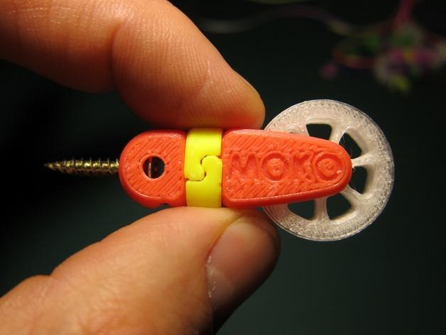 迷你滑轮 3D打印模型渲染图