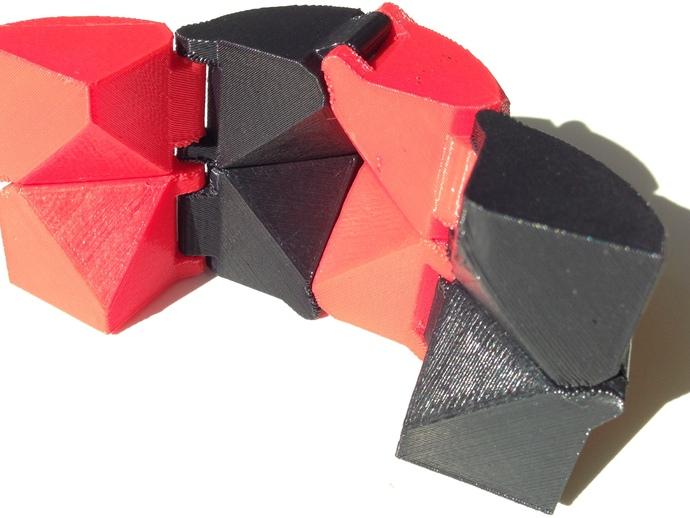可折叠立方体 3D打印模型渲染图