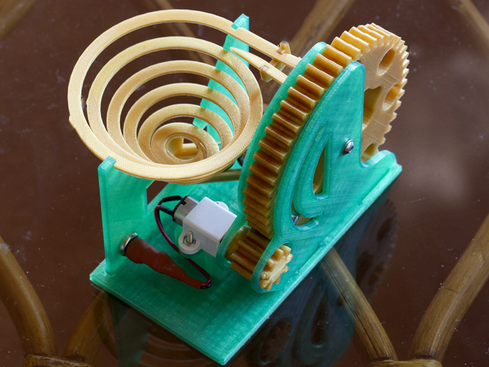 机械化联动装置 3D打印模型渲染图