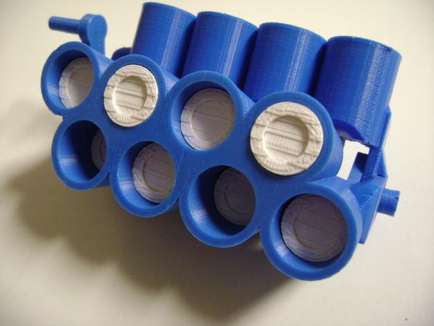 W形发动机 3D打印模型渲染图