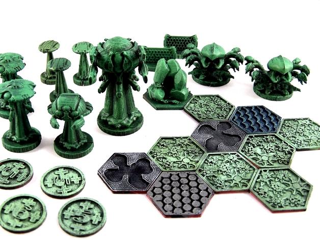 诺亚方舟棋牌游戏 3D打印模型渲染图