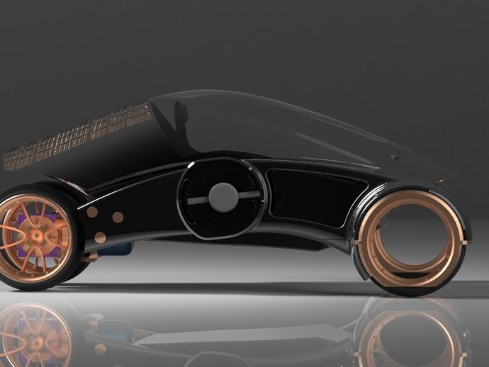 三轮车2040 3D打印模型渲染图
