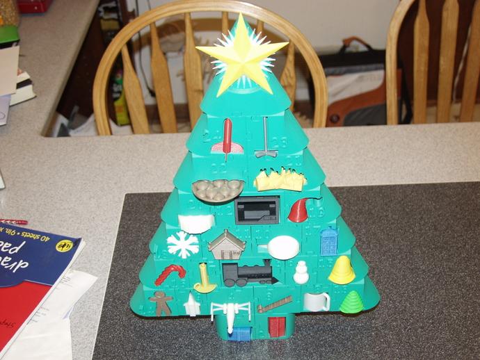 圣诞日历 3D打印模型渲染图