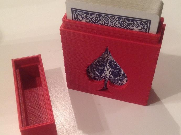 扑克牌盒 3D打印模型渲染图