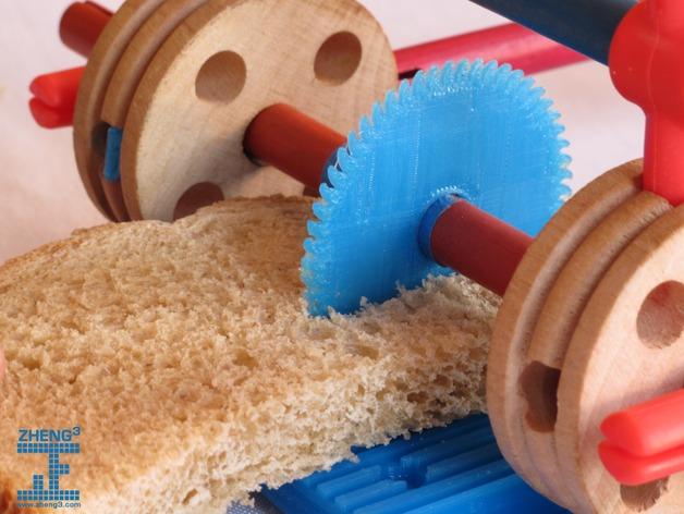 tinkeriffic锯木机 3D打印模型渲染图