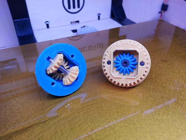 1:10遥控差速器 3D打印模型渲染图