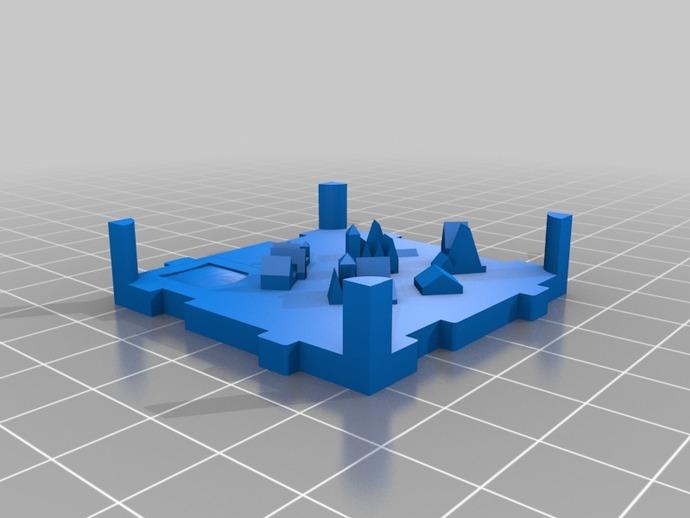 桌游《Carcassonne》模型