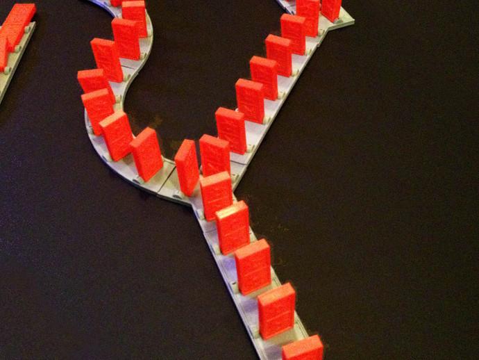多米诺骨牌轨道 3D打印模型渲染图