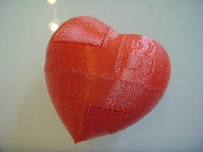 心形礼物盒 3D打印模型渲染图