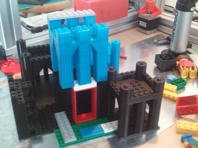 模块化城堡工具包 3D打印模型渲染图