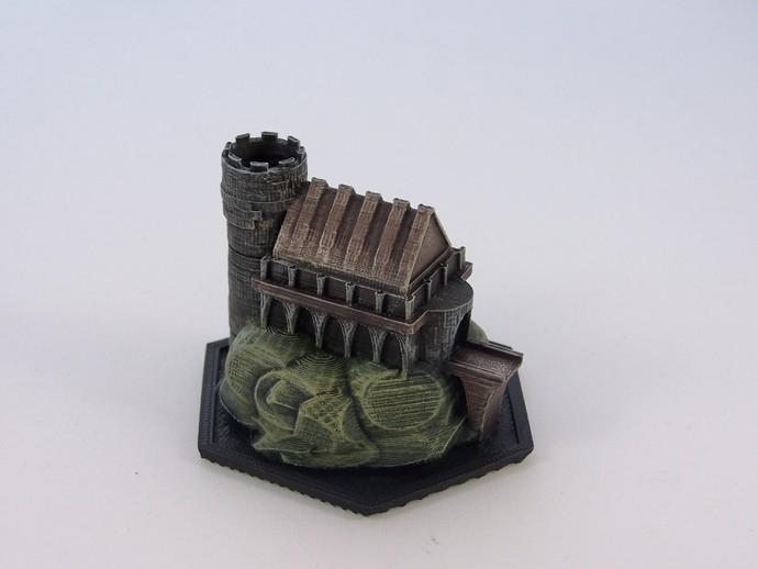 游戏《Ill Gotten Games》魔法基地 3D打印模型渲染图